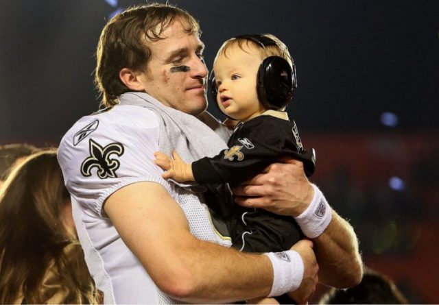 Drees Brees and his son Baylen Brees