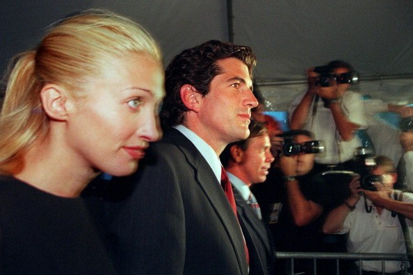 John F. Kennedy Jr and his wife Carolyn Bessette Kennedy