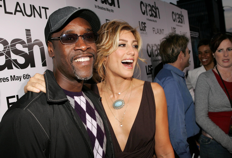 Jennifer Esposito and Don Cheadle. Crash premier