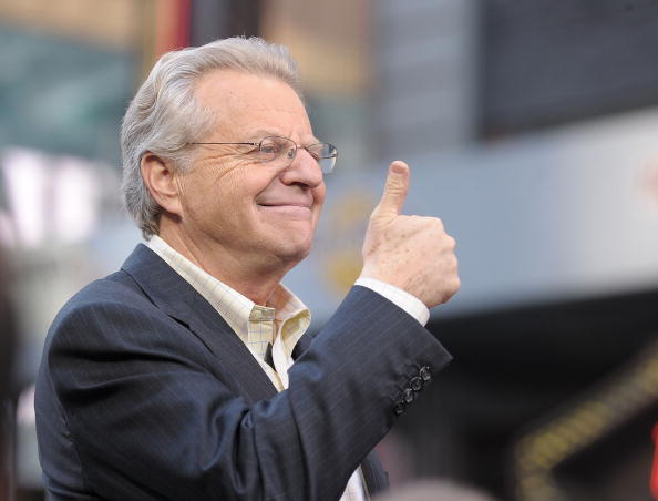 """TV Host Jerry Springer celebrates the taping of """"The Jerry Springer Show"""" 20th anniversary in 2010"""