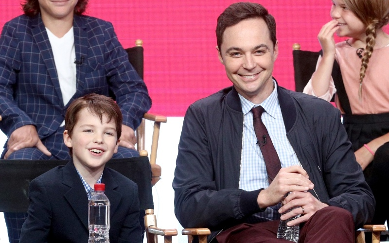 Jim Parsons and Iain Armitage