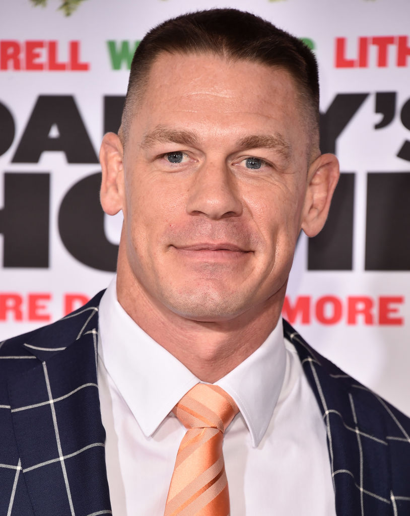 "John Cena attends the premiere of Paramount Pictures' ""Daddy's Home 2"" at The Regency Village Theatre on November 5, 2017 in Westwood, California."