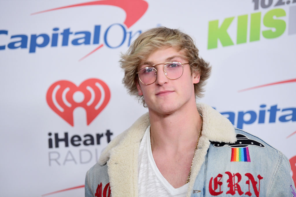 Logan Paul poses in the press room during 102.7 KIIS FM's Jingle Ball 2017