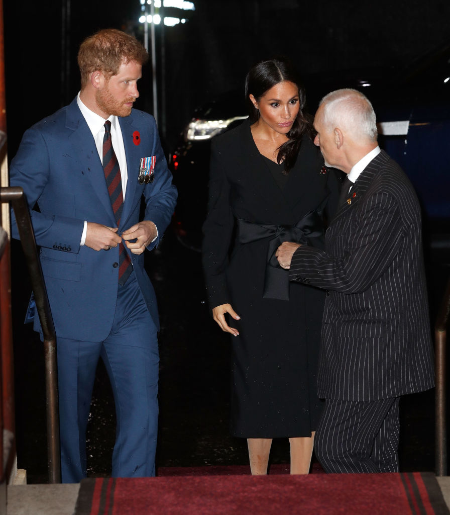 Prince Harry, Duke of Sussex and Meghan, Duchess of Sussex attend the Royal British Legion Festival of Remembrance 2018