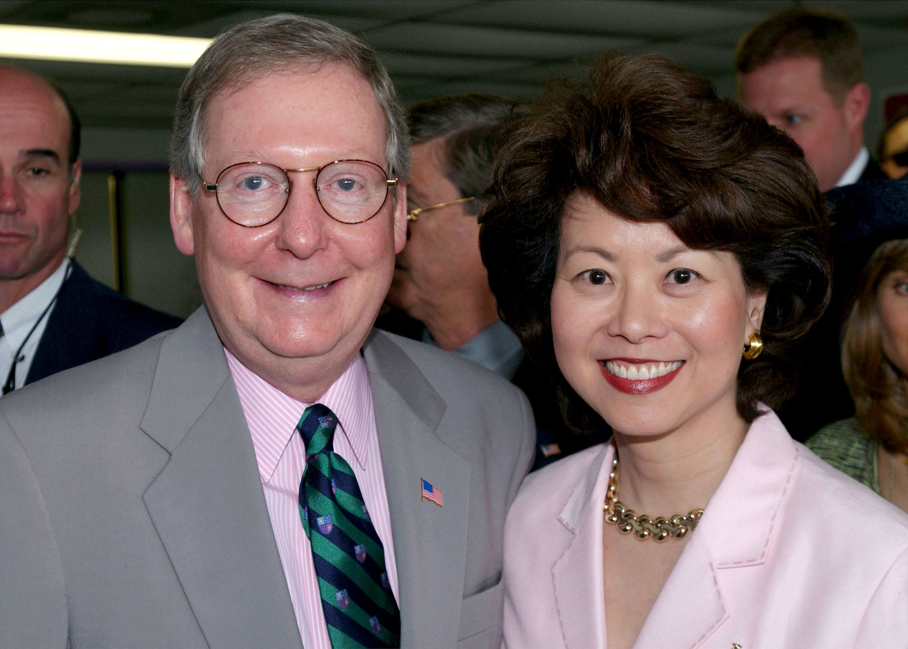 Mitch McConnell and Elaine Chao.