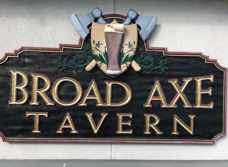 Broad Axe Tavern sign
