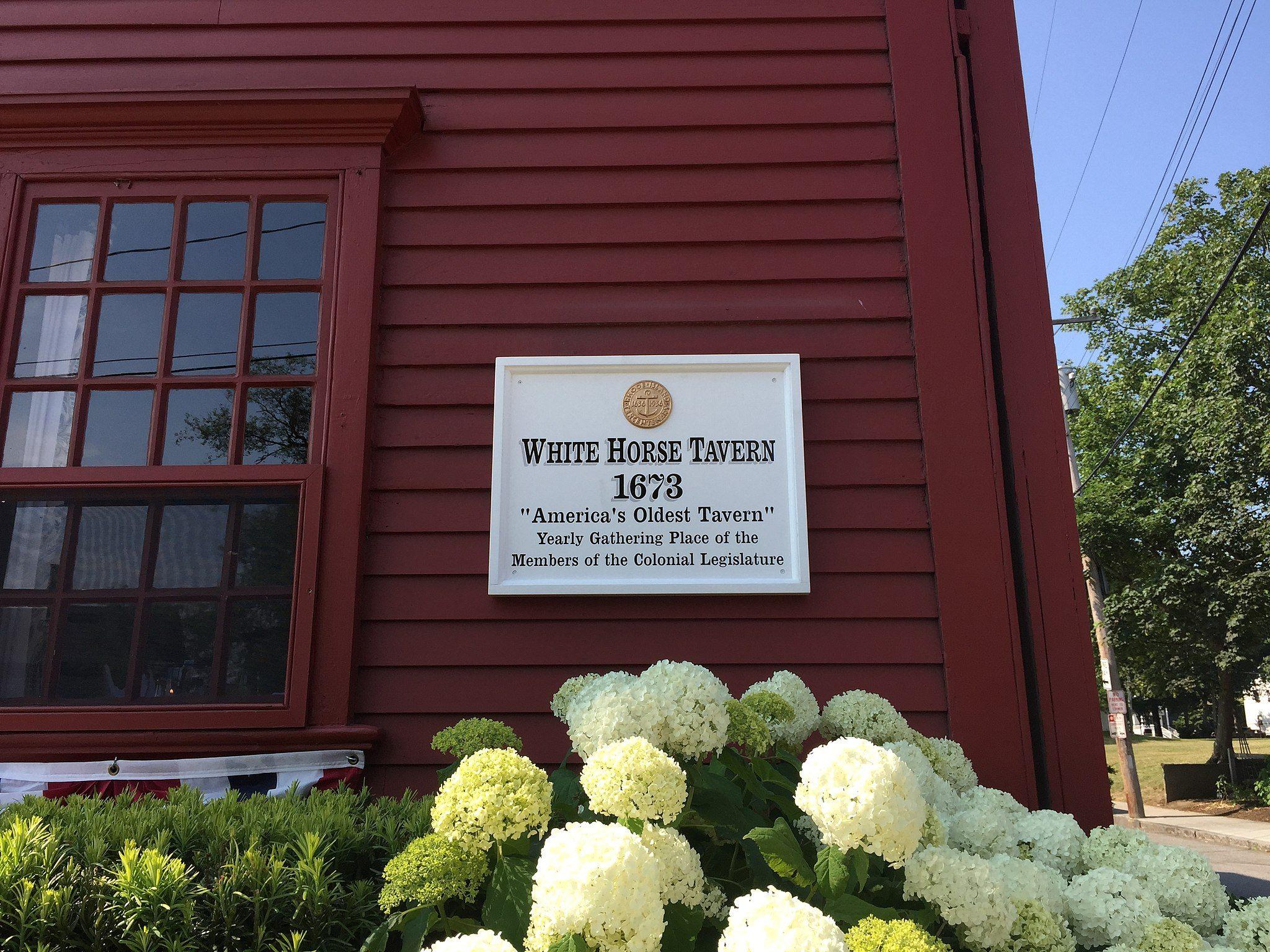White Horse Tavern sign, oldest bars