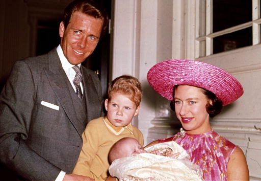 Princess Margaret with her husband and kids