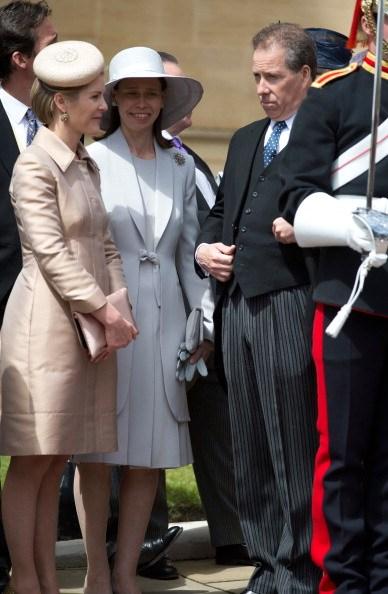 Viscount Linley, his wife Viscountess Linley, and Lady Sarah Chatto