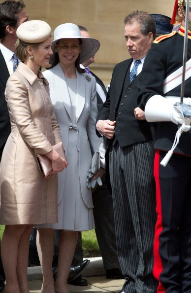Viscount Linley, his wife Viscountess Linley, and Lady Sarah Chatto
