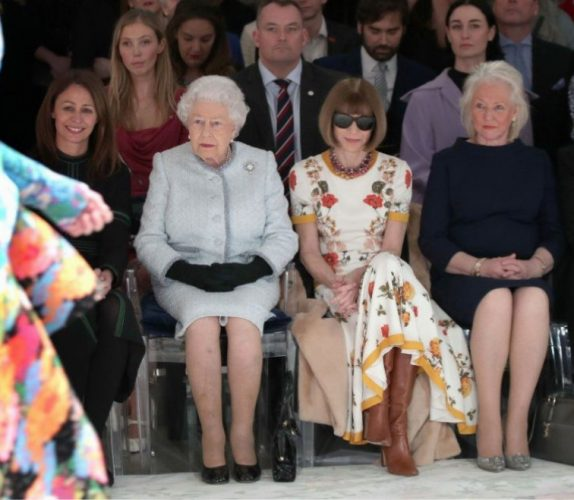 Queen Elizabeth II, Anna Wintour, and Angela Kelly