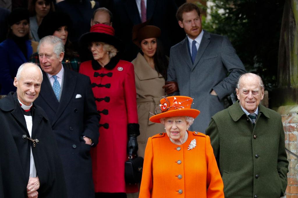Queen Elizabeth at church