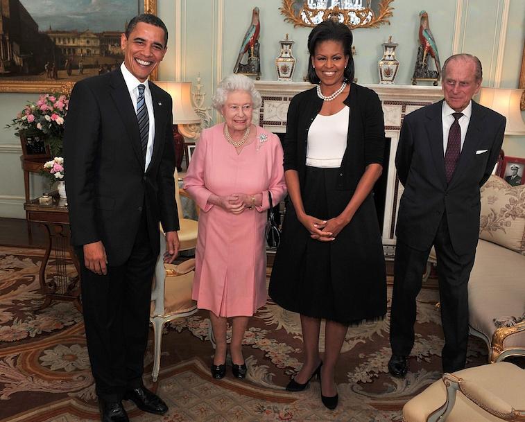 Michelle Obama and Queen Elizabeth II