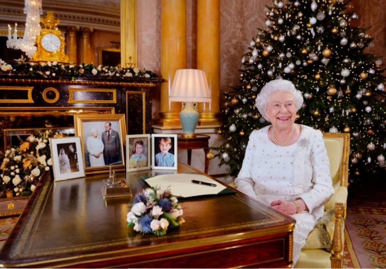 Queen Elizabeth at Christmas