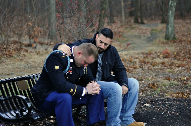 A distressed American veteran