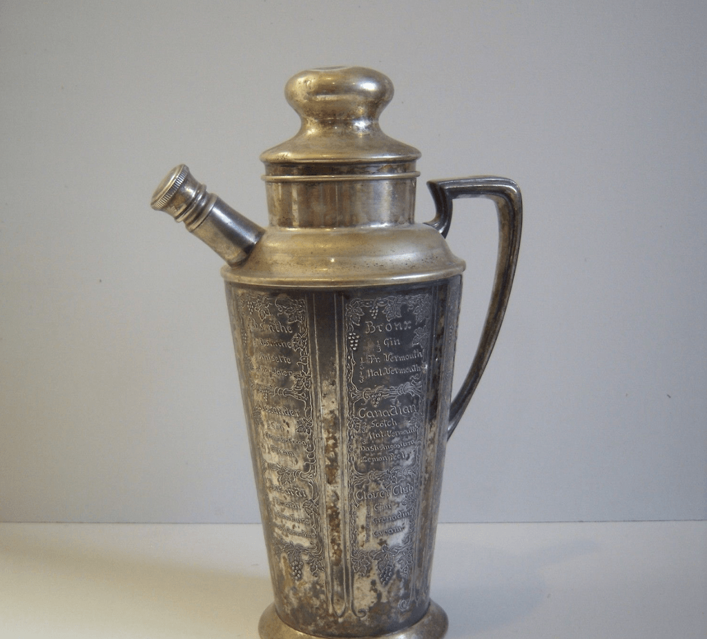 A Prohibition-era cocktail shaker