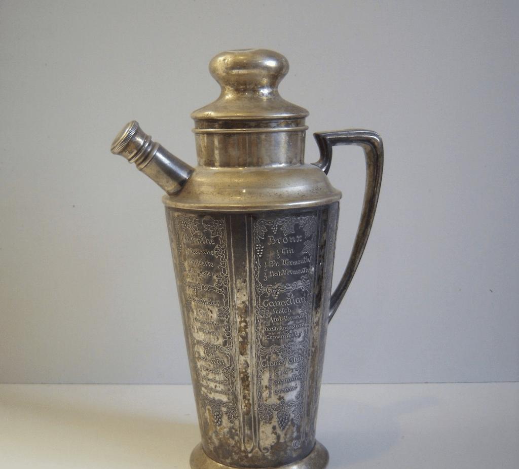 A Prohibition-era cocktail shaker