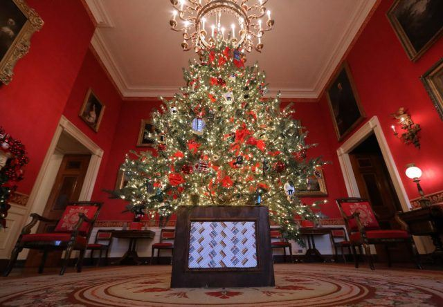 First lady Melania Trump's 'Be Best' initiative, the Red Room is decorated to 'celebrate children through the décor