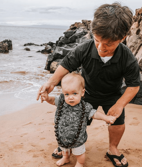 Zach Roloff with his son, Jackson