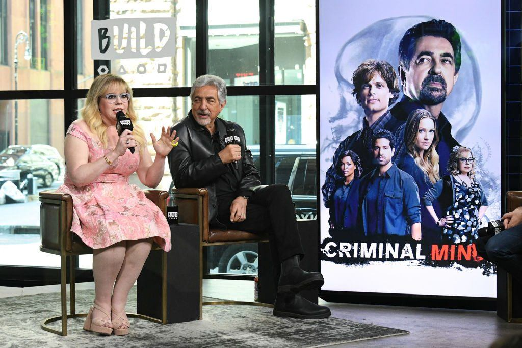 Kirsten Vangsness (L) and Joe Mantegna