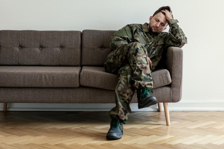 Helpless American soldier