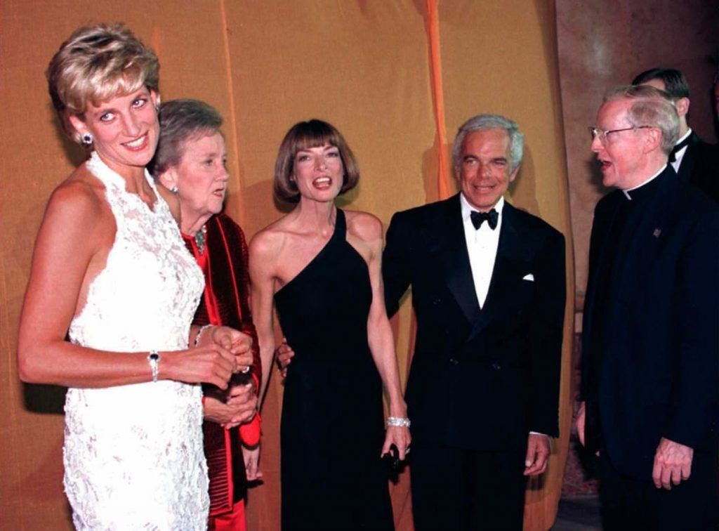Princess Diana with Katherine Graham, Anna Wintour, and Ralph Lauren