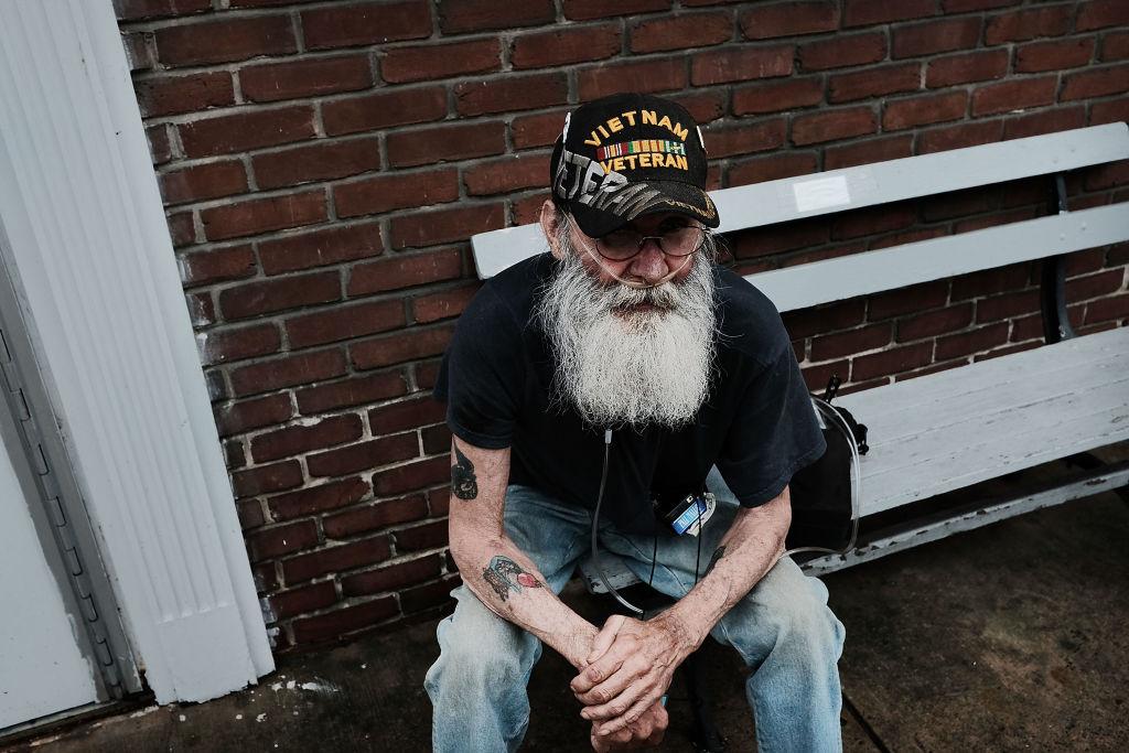 An American veteran struggling to