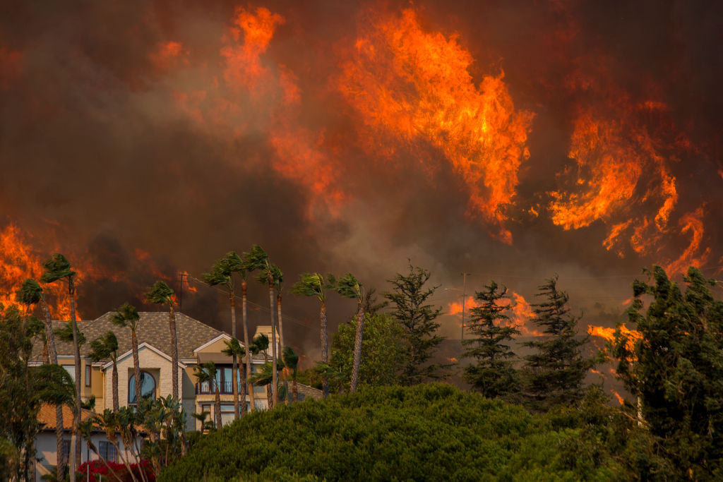 Fast-Spreading Hill Fire Forces Evacuations In California's Ventura County