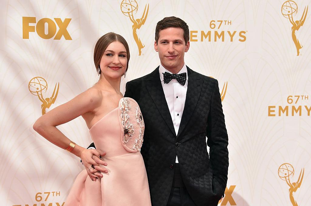 Andy Samberg (right) with his wife Joanna Newsom.