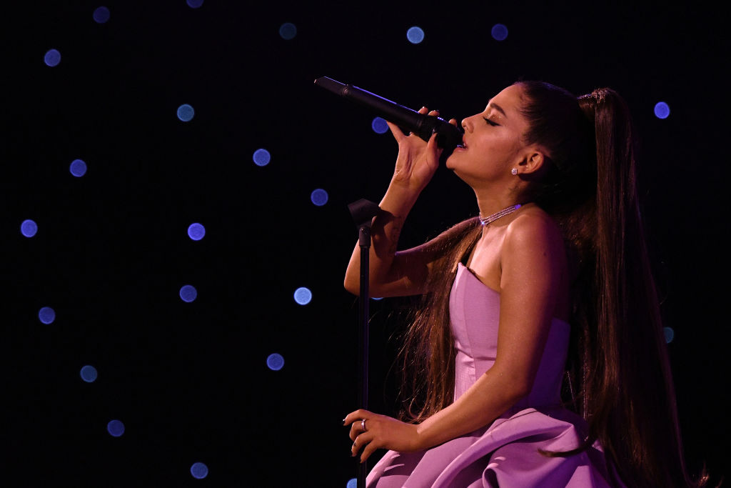 Ariana Grande preforms at Billboard Women In Music 2018 on December 6, 2018 in New York City.