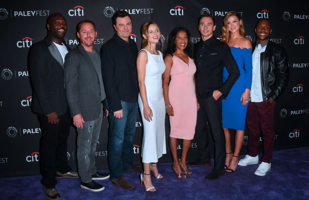 The cast of the TV show The Orville in 2017.