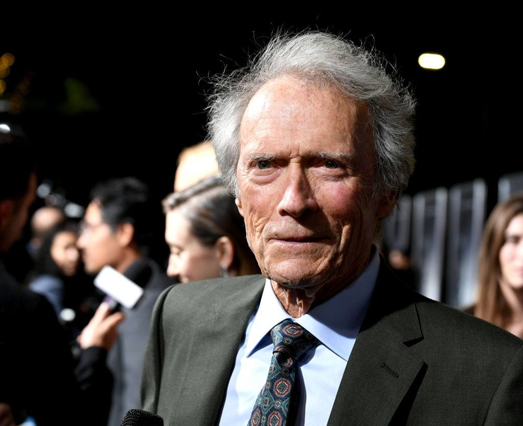 Clint Eastwood attends the premiere of his 2018 movie 'The Mule'