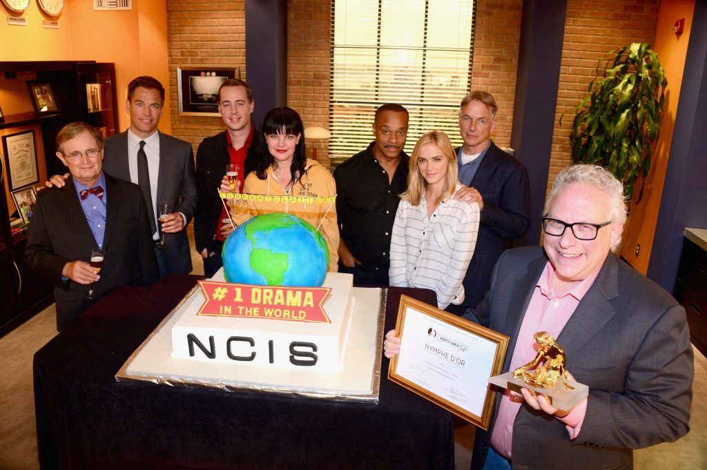 Mark Harmon (second from right) and the cast of NCIS.