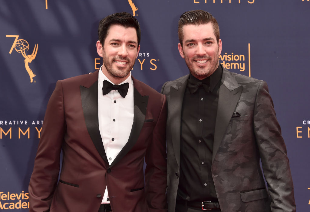 Drew Scott and Jonathan Scott attends the 2018 Creative Arts Emmys Day 2 at Microsoft Theater on September 9, 2018 in Los Angeles, California.