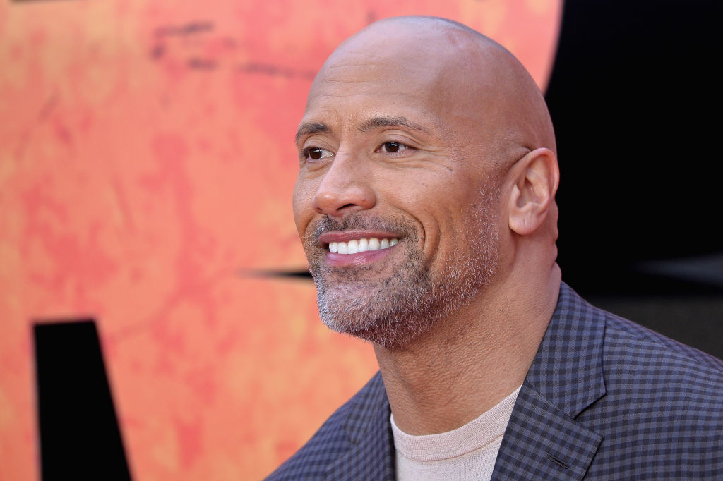 Dwayne Johnson attends the European Premiere of 'Rampage' at Cineworld Leicester Square on April 11, 2018 in London, England.