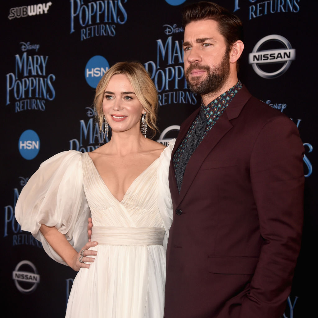 John Krasinski (L) and Emily Blunt attend Disney's 'Mary Poppins Returns' World Premiere at the Dolby Theatre on November 29, 2018 in Hollywood, California.
