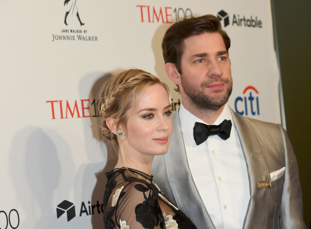 Emily Blunt and John Krasinski attend the 2018 Time 100 Gala at Jazz at Lincoln Center on April 24, 2018 in New York City.