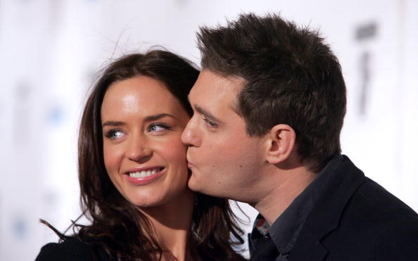Emily Blunt and musician Michael Buble arrive at the BAFTA/LA's Awards season tea party held at the Four Seasons Hotel on January 14, 2007 in Beverly Hills, California.