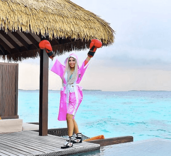 Farrah Abraham in the Maldives