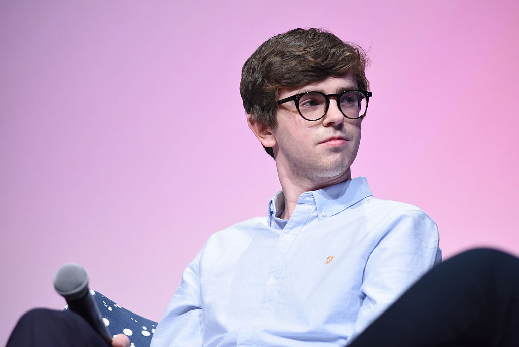 Freddie Highmore promoting the TV show 'Bates Motel' in 2016.
