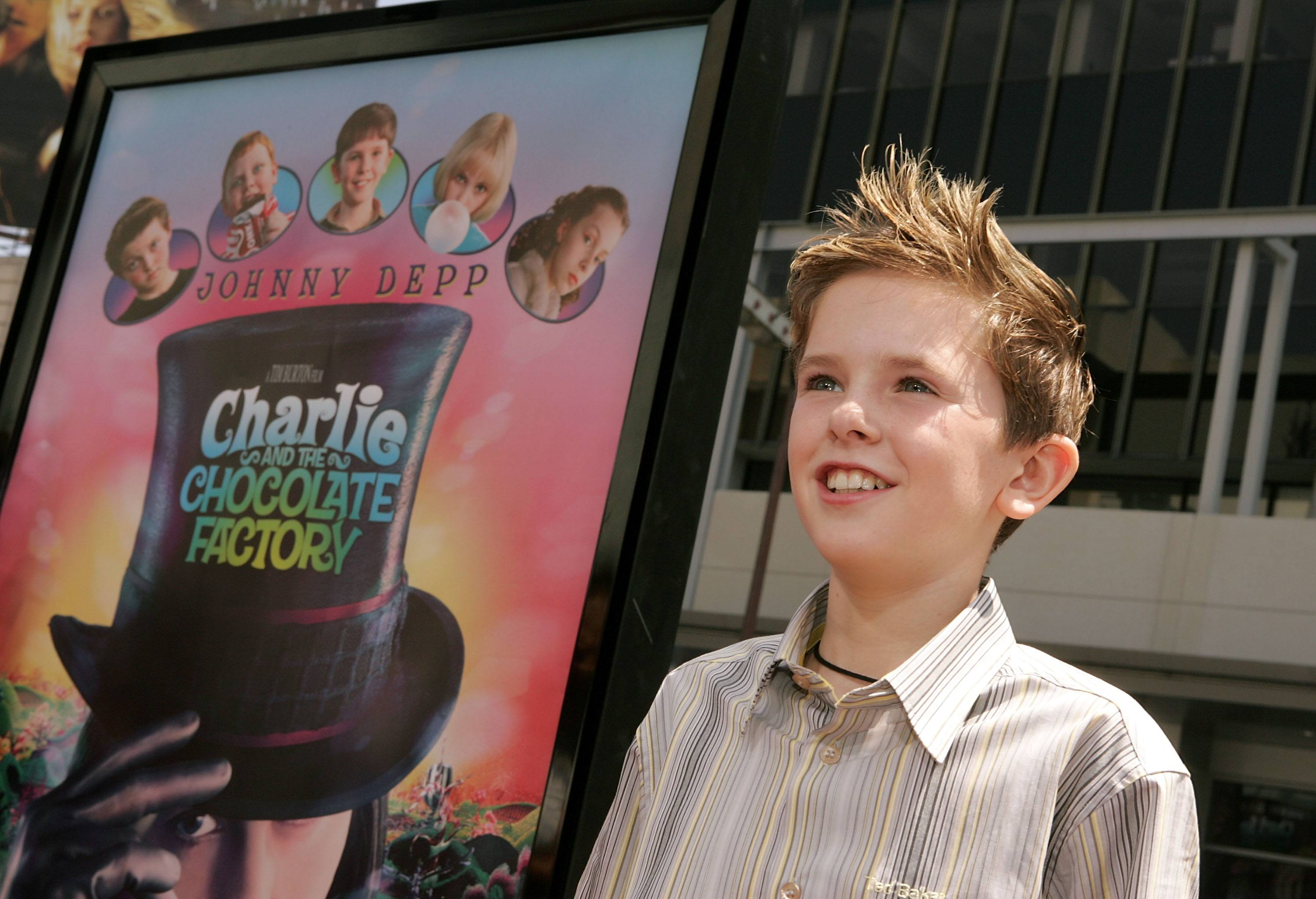Freddie Highmore at the 'Charlie and the Chocolate Factory' premier.