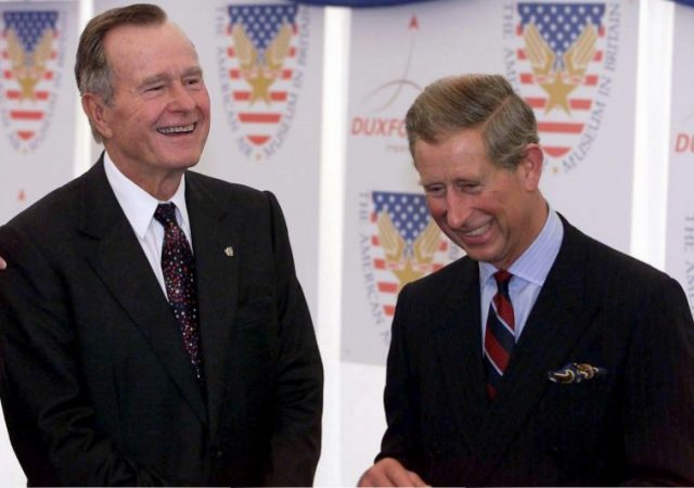 President George Bush with Prince Charles