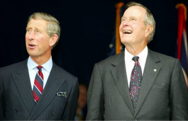Prince Charles and George H.W. Bush in 2002