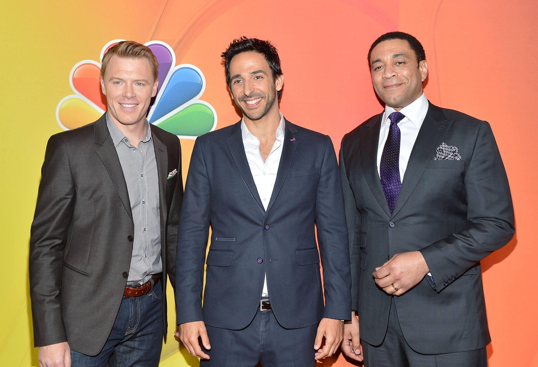 Diego Klattenholf, Amir Arison and Harry Lennix from NBC's The Blacklist