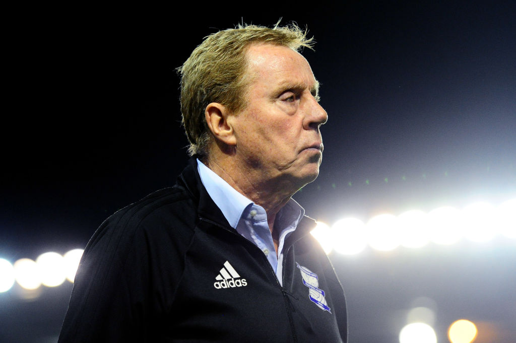 Harry Redknapp, Manager of Birmingham City looks on after the Carabao Cup Second Round match between Birmingham City and AFC Bournemouth at St Andrews (stadium) on August 22, 2017 in Birmingham, England.