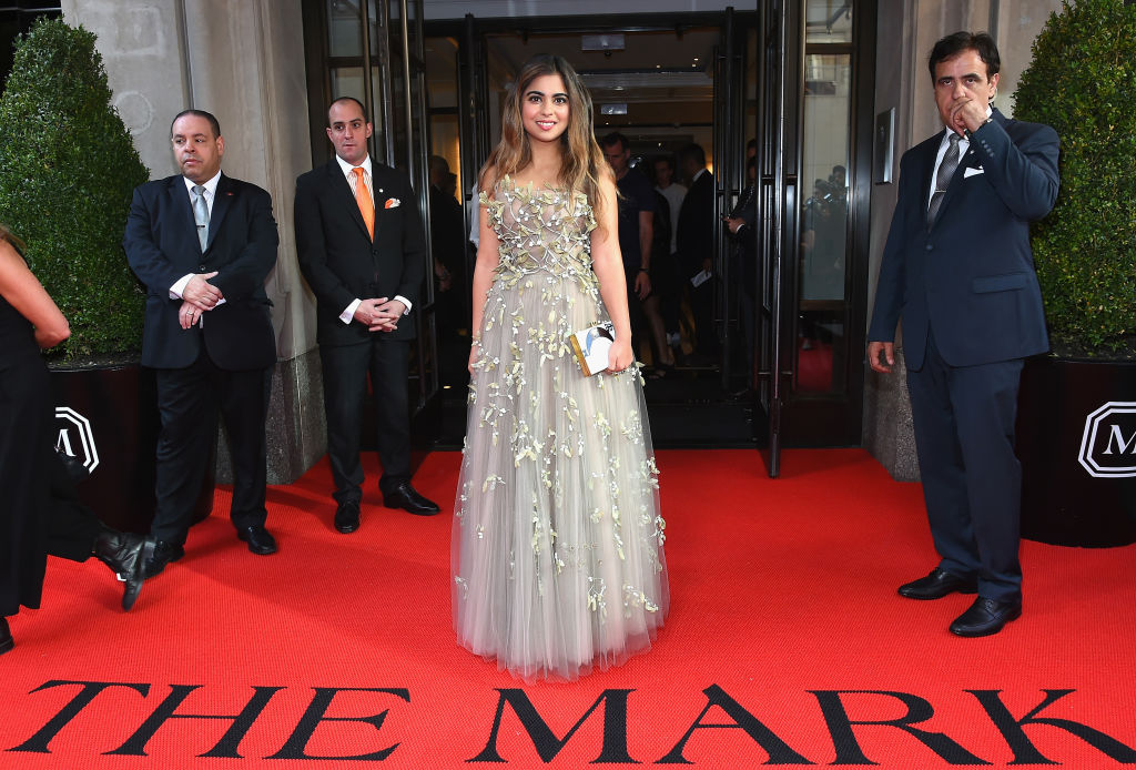 Isha Ambani dressed up for a Met Gala function in 2017.