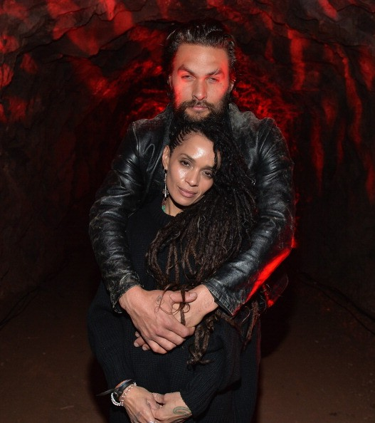 """Lisa Bonet and Jason Momoa attend a screening of Sundance Channel's """"The Red Road"""" at The Bronson Caves at Griffith Park on February 24, 2014 in Los Angeles, California."""