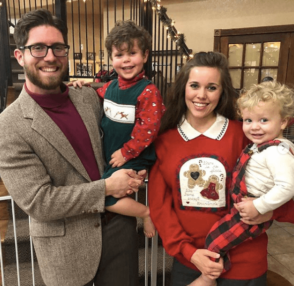 Jessa Duggar, husband Ben Seewald, and their two boys, Spurgeon and Henry
