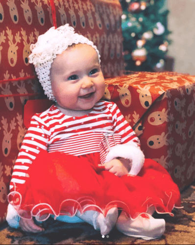 Felicity's first Christmas