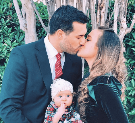 Jinger Duggar with her husband and baby